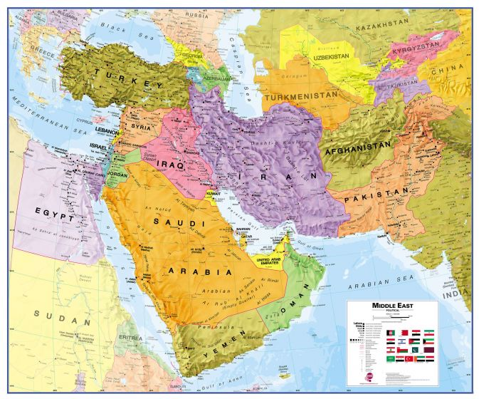 Middle East Map Of The Whole World