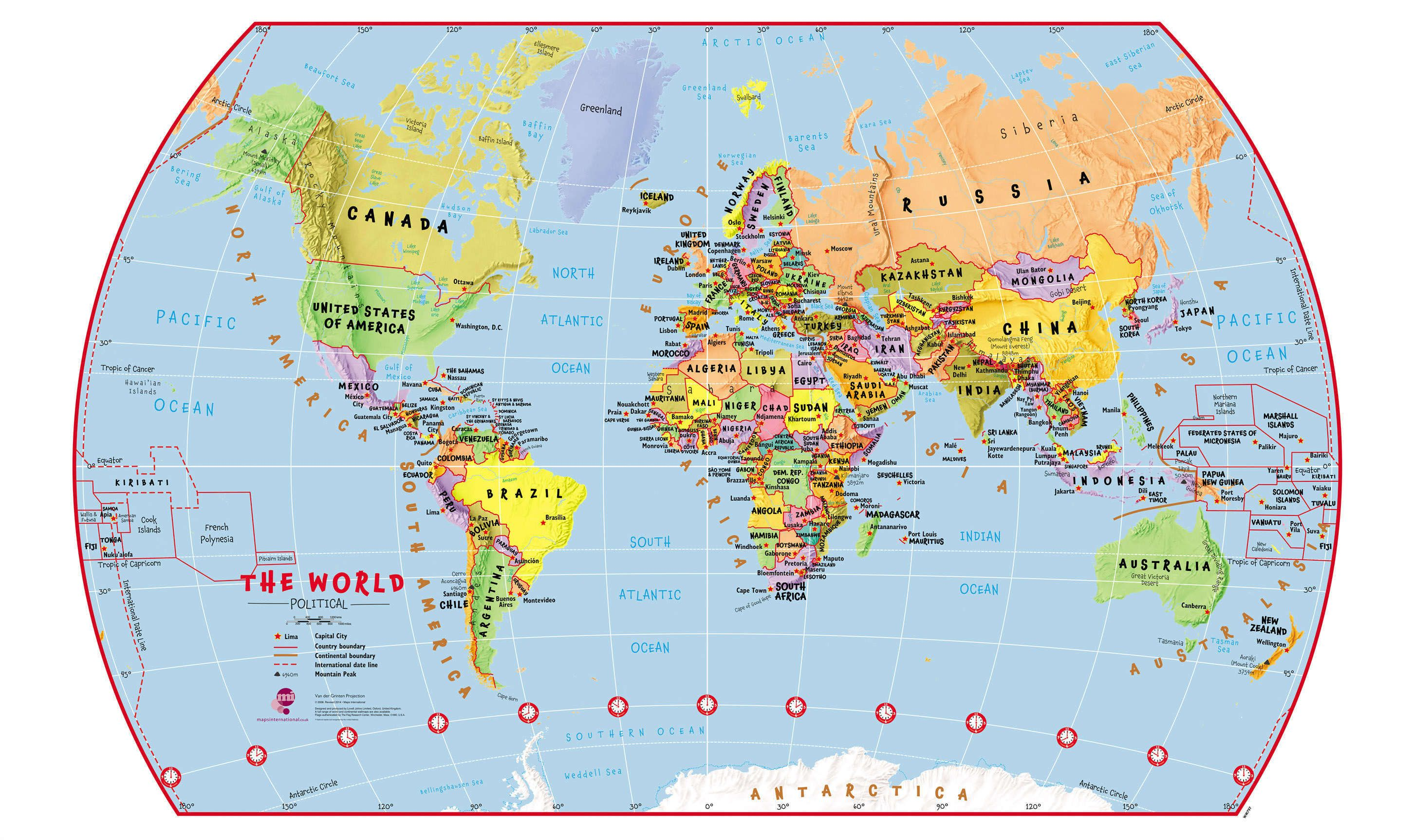 World Political Map For Students
