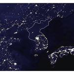 Satellite Map Of North Korea At Night North Korea Asia Mapsland Maps Of The World