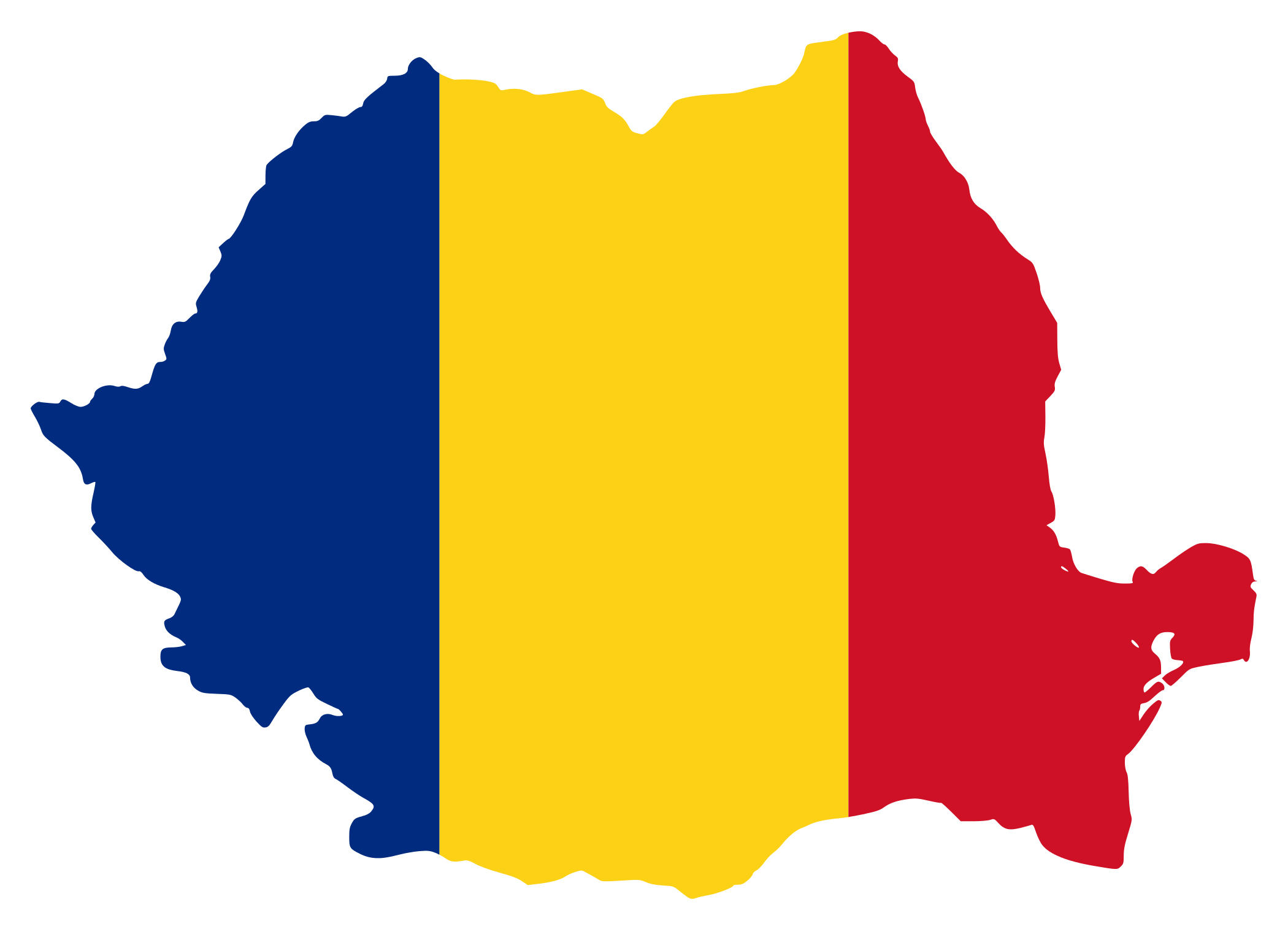 Romania Flag Coloring Pages