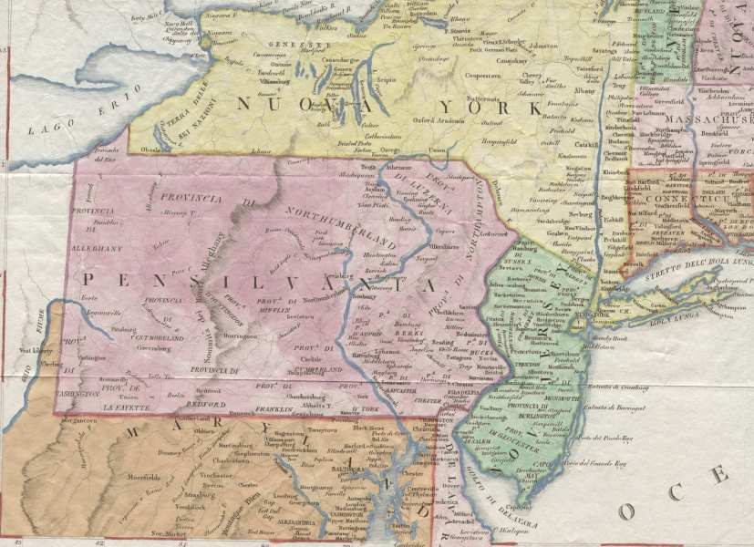 1820 s Pennsylvania Maps The