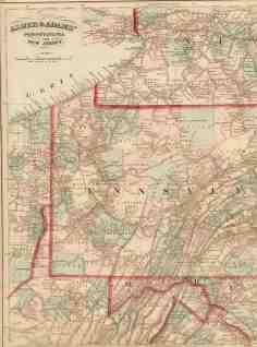 1870 S Pennsylvania Maps