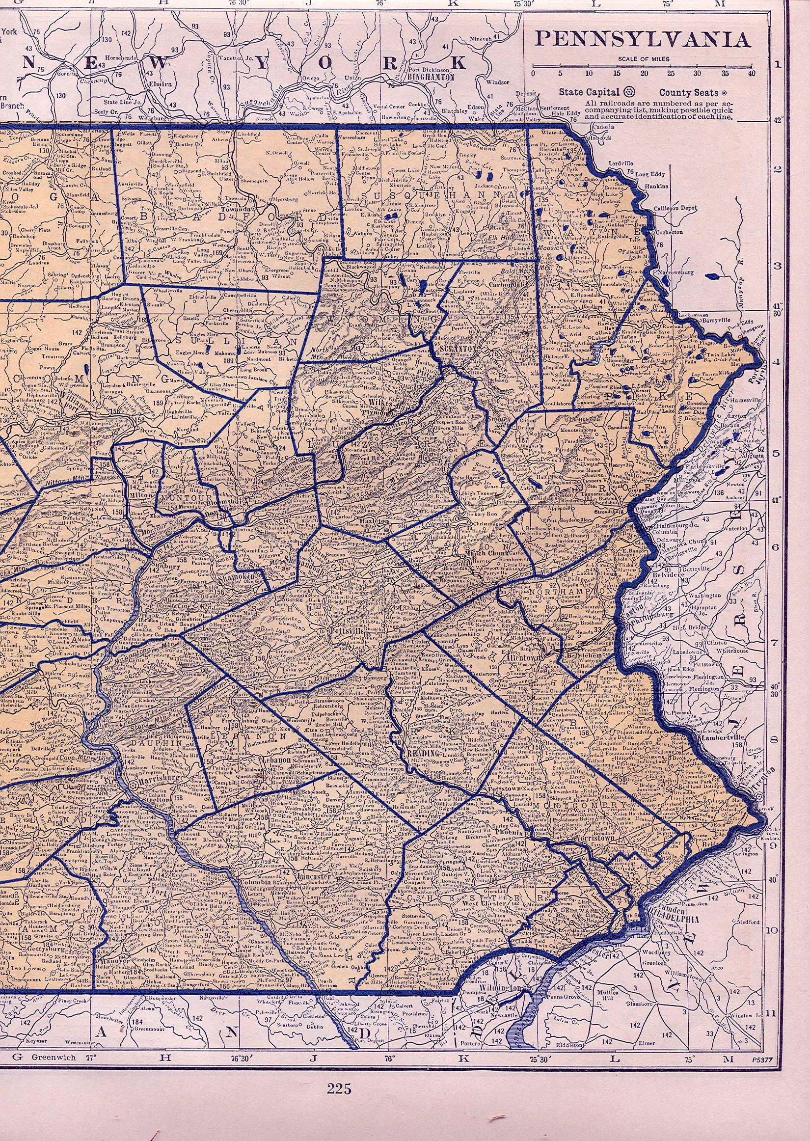 1930 S Pennsylvania Maps