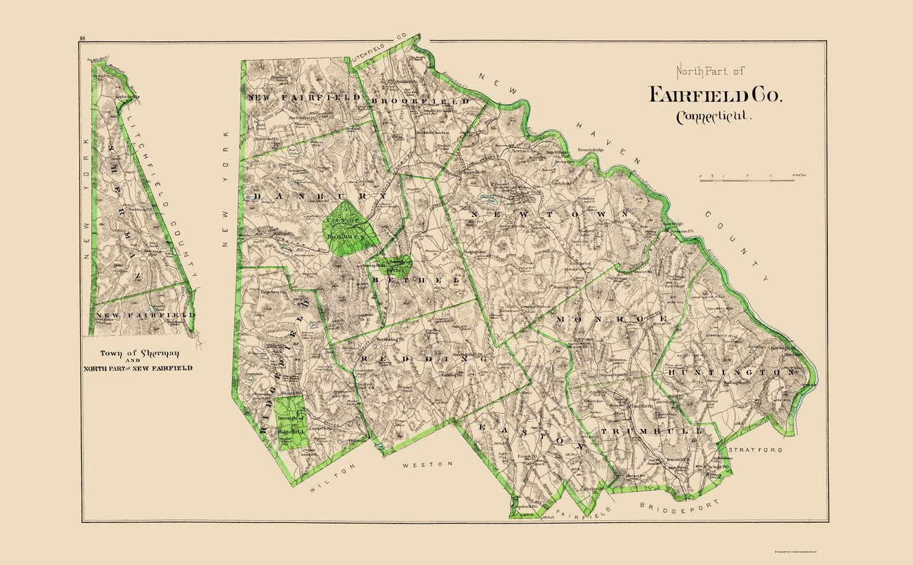 Fairfield County Ct Towns Map