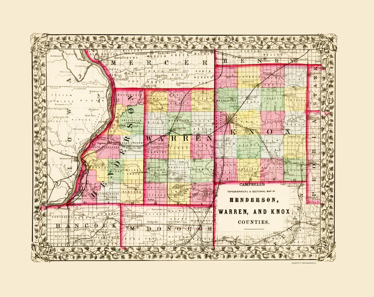 Knox Map County Il Cities