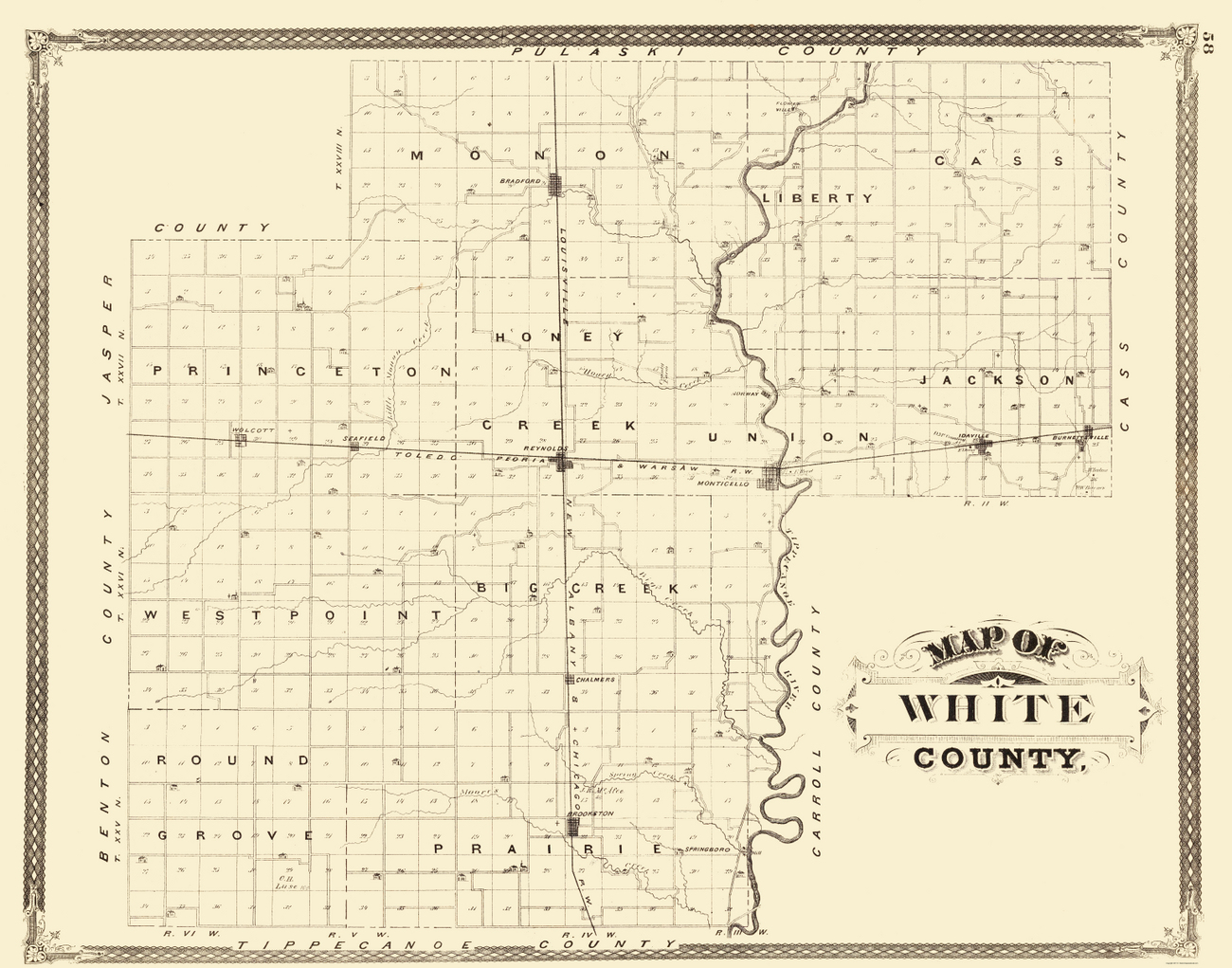Townships Tippecanoe County Indiana