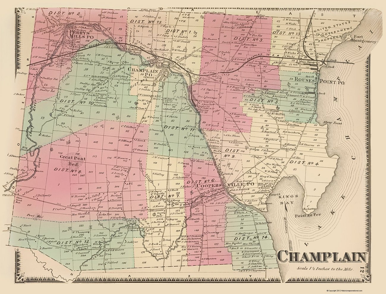 New York Kings County Township Map