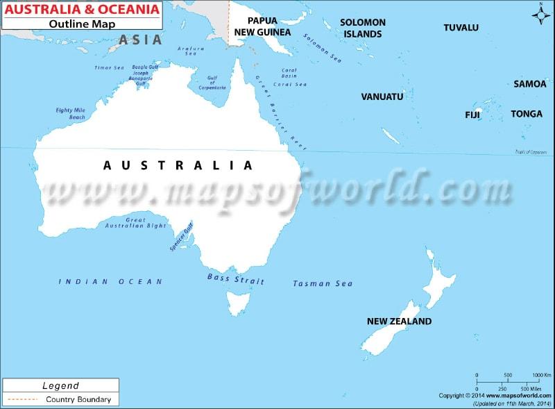 Blank Map Of Australian Continent