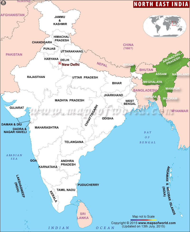 North East India Map on ↗  id=24534