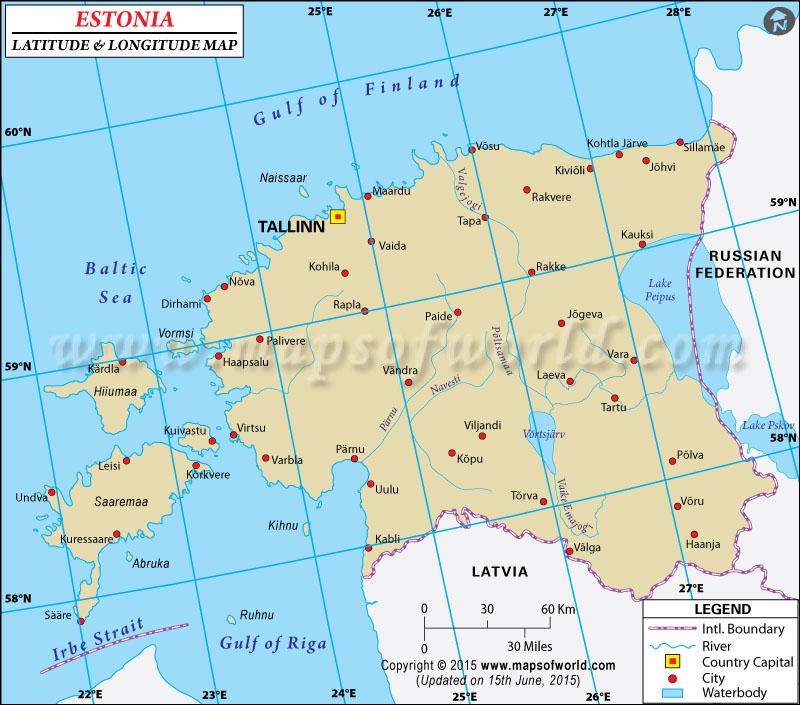 Major Cities Estonia