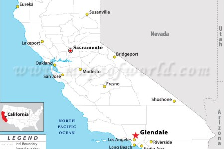 map of glendale california » Full HD MAPS Locations - Another World ...