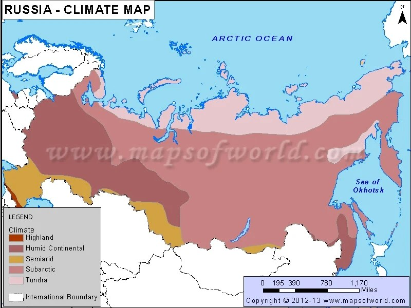 Map Climate Russia And Republics