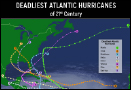 What were the deadliest Atlantic Hurricanes of 21st century?