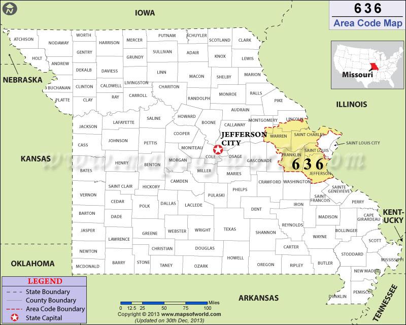 Counties By Zip Code - Missouri counties map