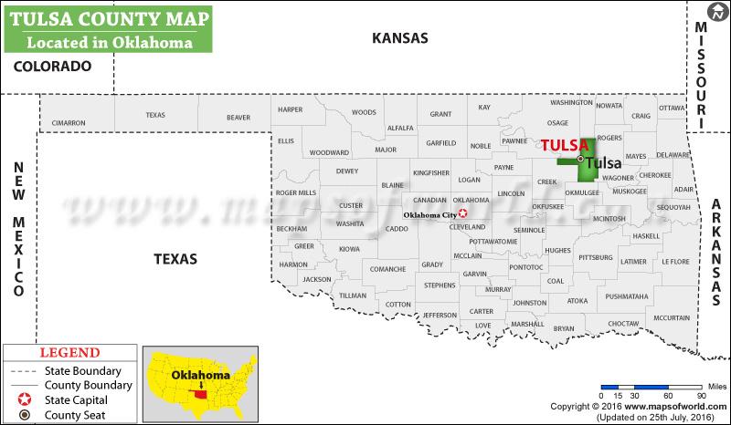Zip Map Oklahoma Tulsa County Code