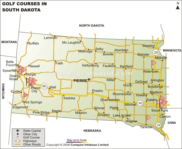And Map Cities Sd Towns