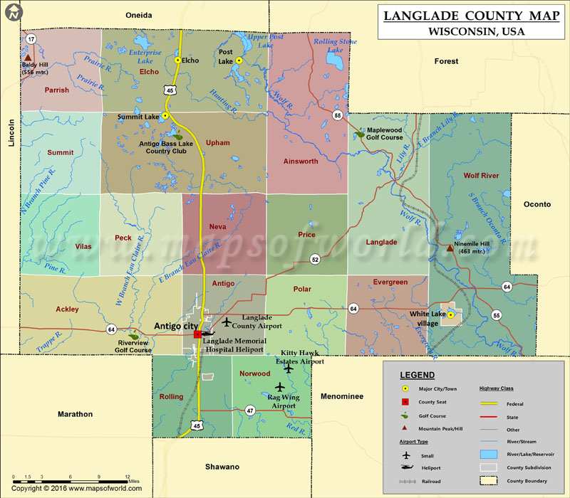 Map Cities Kenosha County Wi