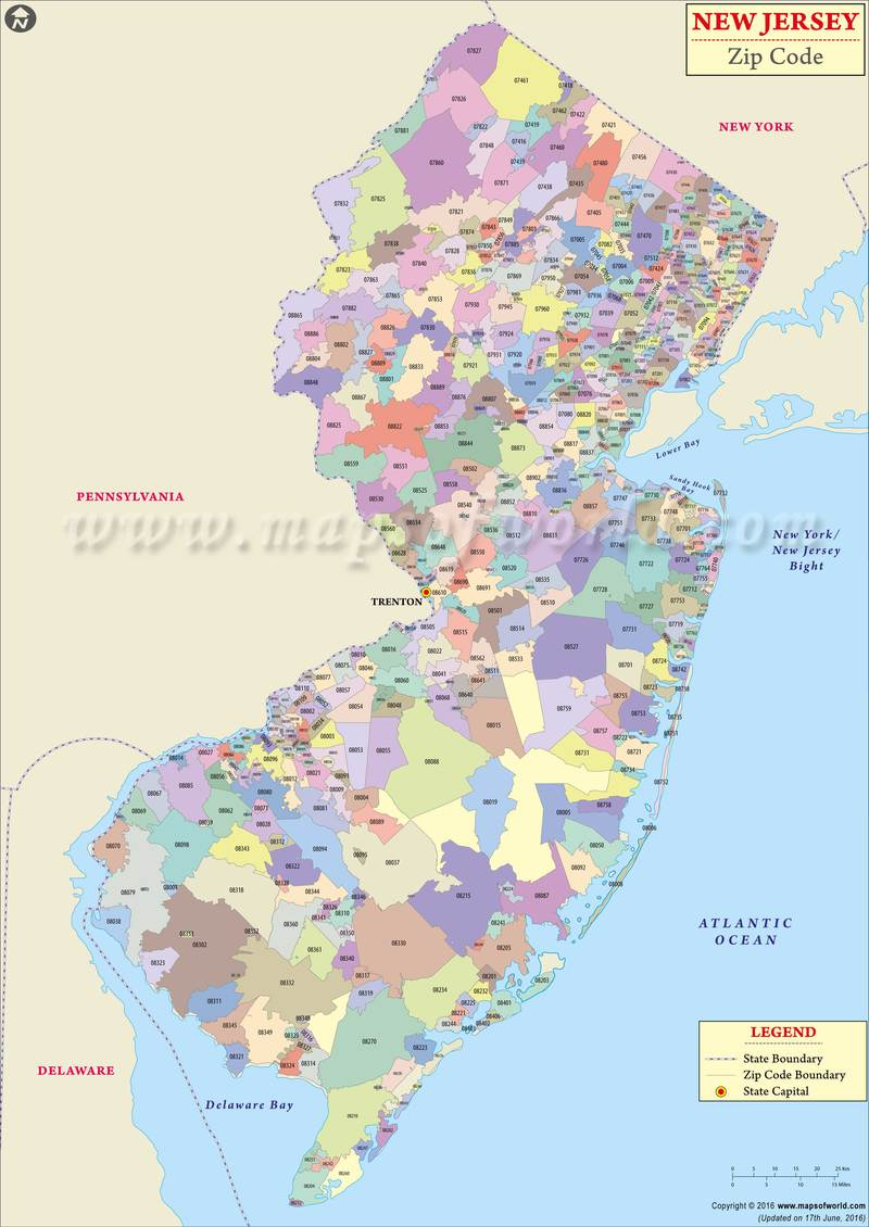 Jersey Map York Cities New And New Towns