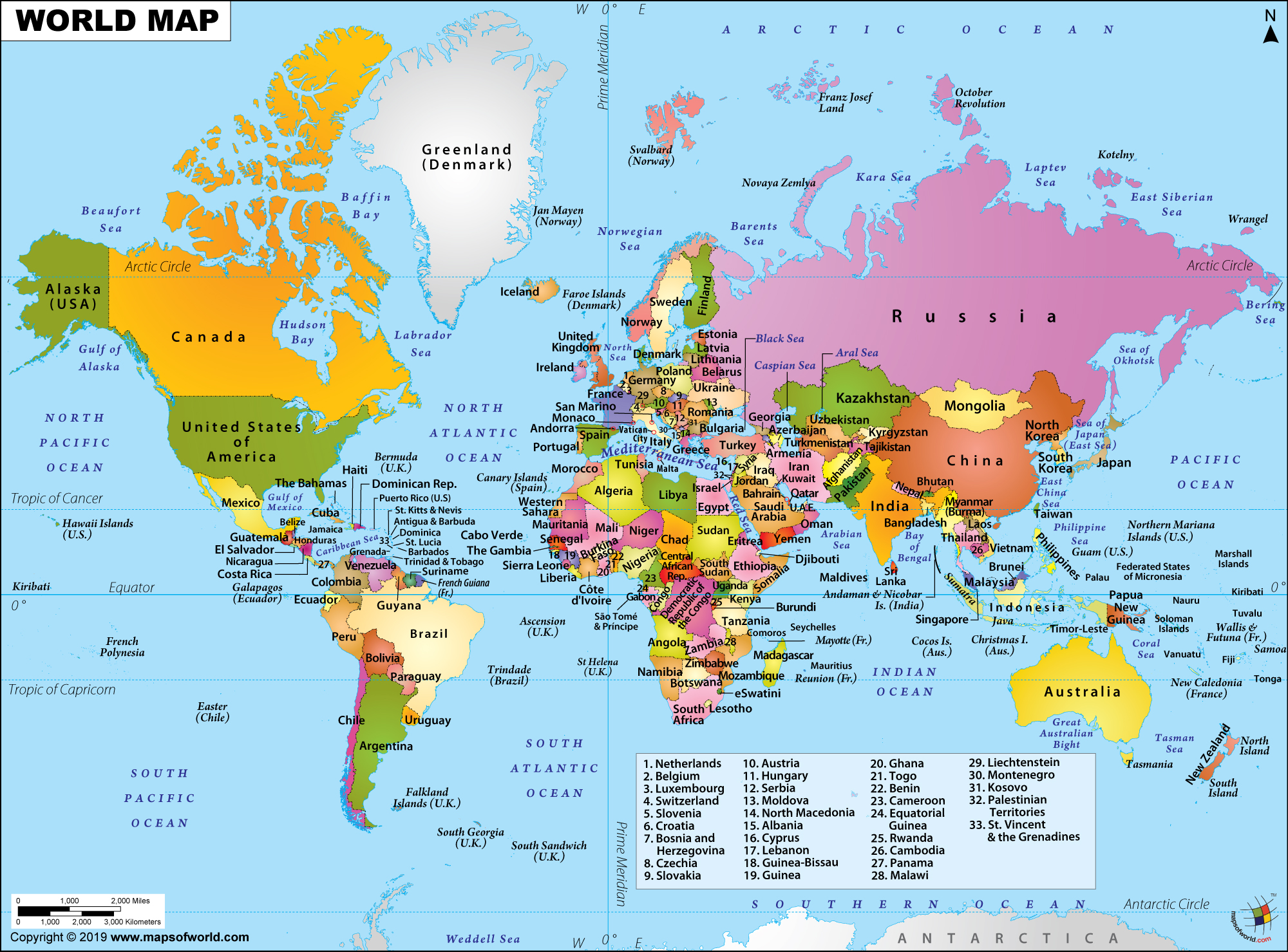 Maps Usa Continents World Populations
