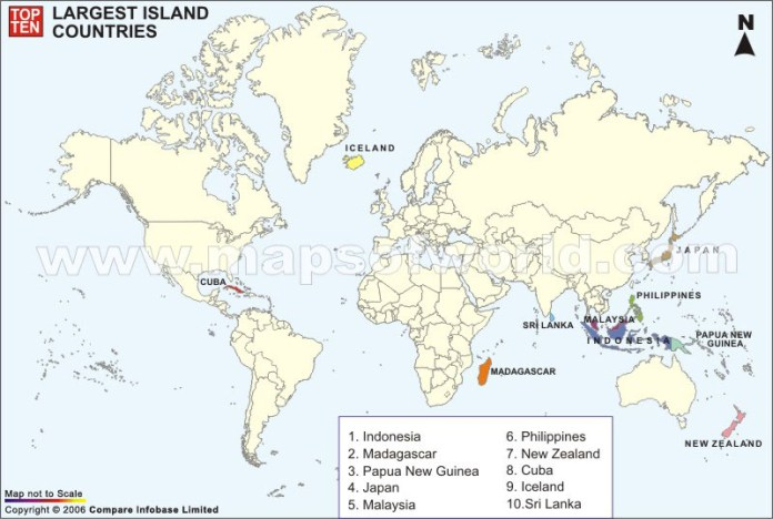 Largest Island Countries In The World Top Ten