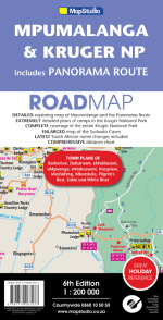 Mpumalanga, Kruger National Park & Panorama Route Road Map