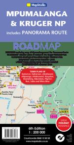 Mpumalanga, Kruger National Park & Panorama Route Road Map