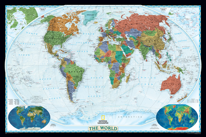 World political wall map national geographic executive gumiabroncs Image collections