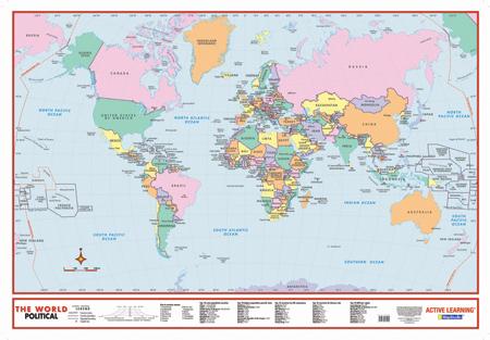 world map scale bar