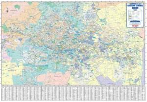 Gauteng Central Regional Wall Map