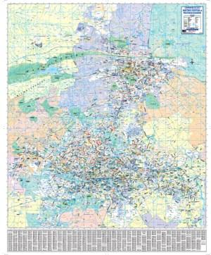 Gauteng Central, Pretoria Regional Wall Map