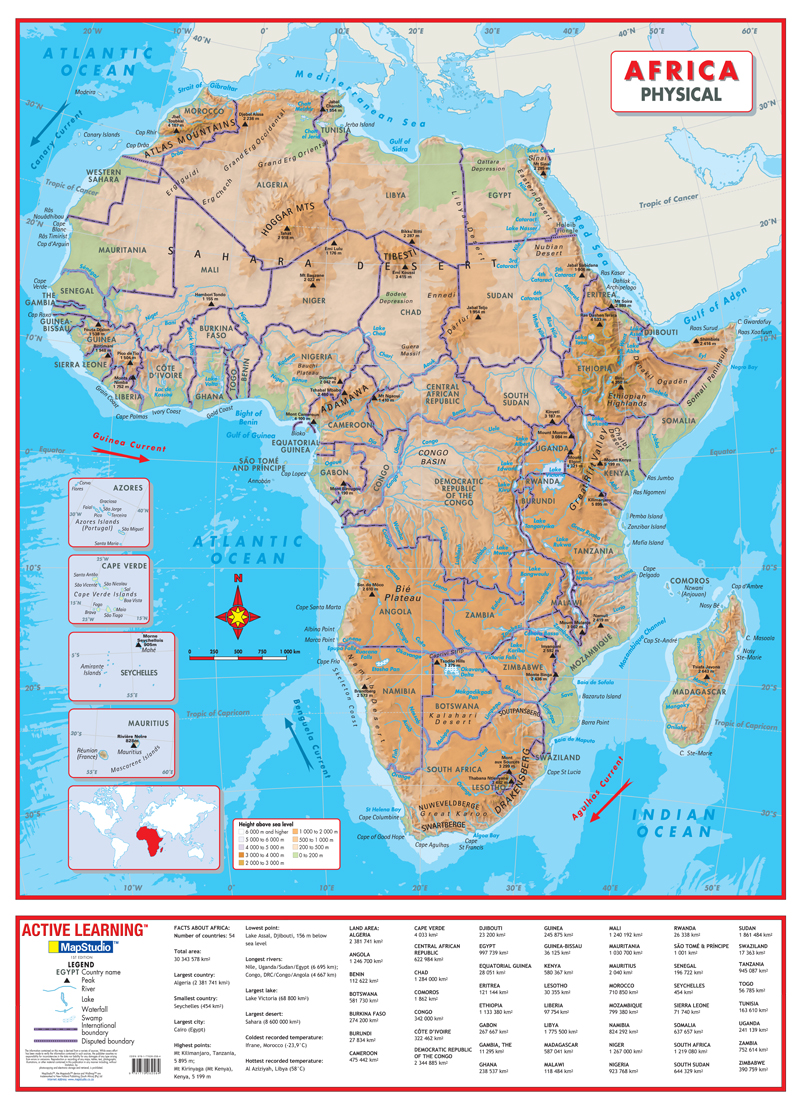 Africa Physical Wall Map a comprehensive physical map of Africa on map of africa food, map of africa updated, map of africa current, map of africa 2014, map of africa google, map of africa cdc, map of africa detailed, map of africa clear,