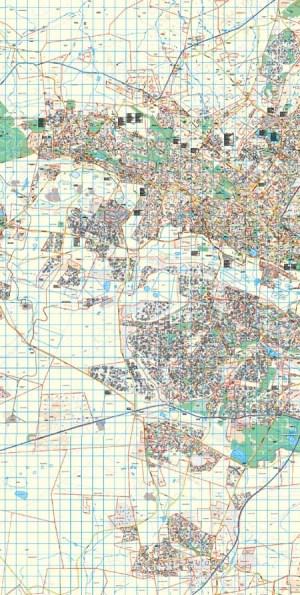 Gauteng West Rand Wall Map