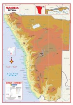 Namibia Physical Wall Map