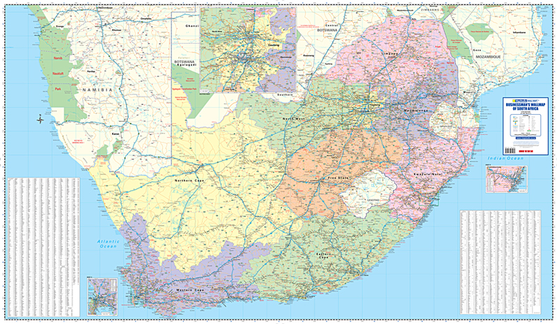 Map Of Africa 1960.Businessman S Wall Map South Africa Mapstudio