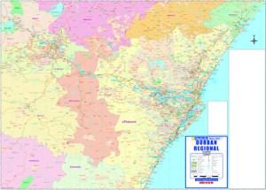 Durban Regional Wall Map