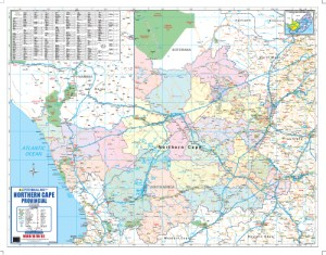 Northern Cape Provincial Wall Map