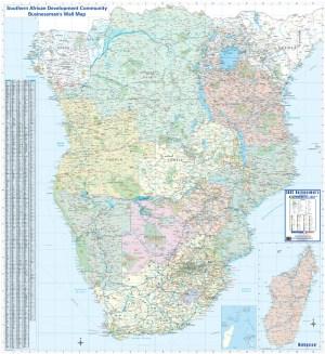 SADC Businessman's Wall Map