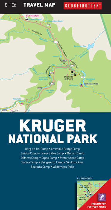 Panorama Route South Africa Map.Kruger National Park Travel Map User Friendly Map Mapstudio