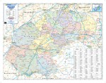 World executive wall map national geographic executive small free state provincial wall map gumiabroncs Image collections
