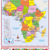 Africa Political Active Learning Wall Map