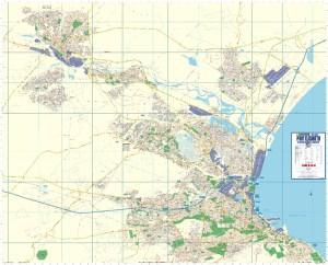 Port Elizabeth Large Wall Map
