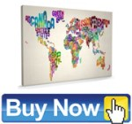 Decorative Canvas Wall Maps
