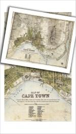 1884 Cape Town Vintage Map