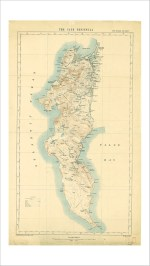 1909 Cape Peninsula Vintage Map