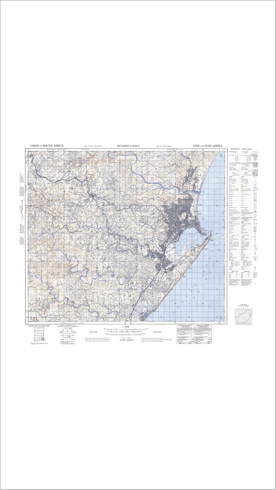 1940 Durban Vintage Map R99.99