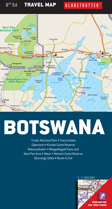 Botswana Travel Map caters for the needs of tourists MapStudio