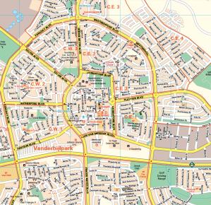 Vaal Triangle Wall Map