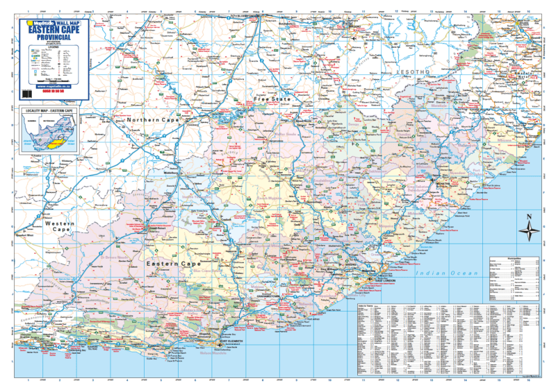 Eastern Cape Provincial Wall Map R1500.00