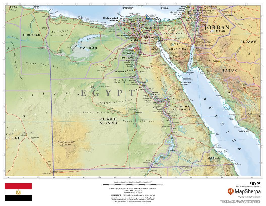 Egypt Map Africa