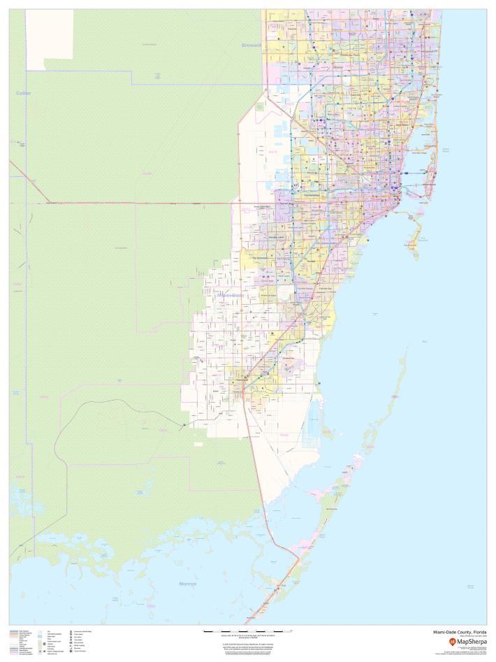miami-dade county map (florida)
